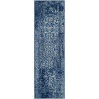 Safavieh Evoke Vintage Oriental Navy / Ivory Distressed Runner Rug