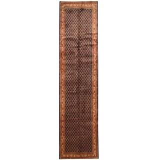 Herat Oriental Persian Hand-knotted Tribal Hamadan Wool Runner (3'5 x 14')