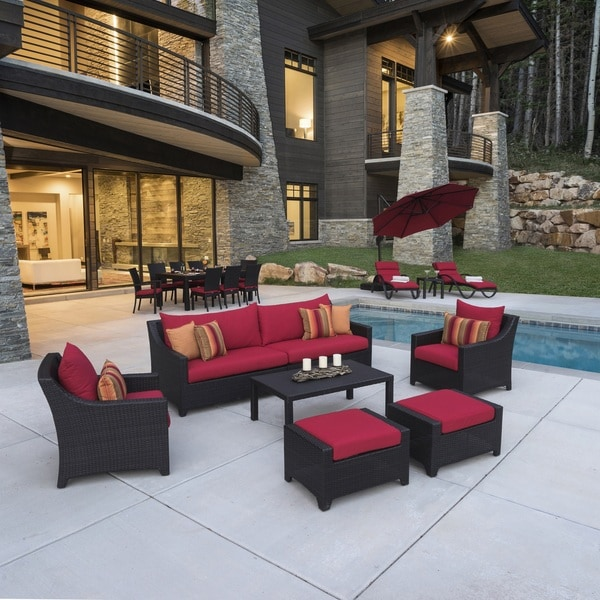 deco red 20piece outdoor patio estate set by rst brands - Rst Brands