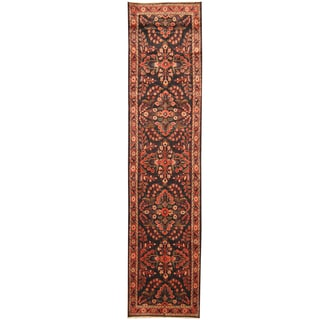 Herat Oriental Persian Hand-knotted Tribal Hamadan Wool Runner (3'4 x 14')