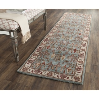 Safavieh Heritage Traditional Handmade Blue/ Ivory Wool Runner (2' 3 x 10')