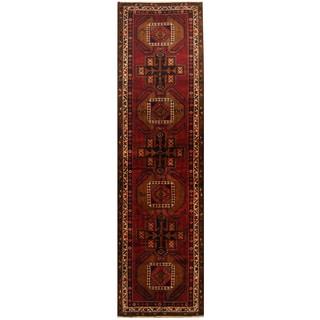 Herat Oriental Persian Hand-knotted Tribal Hamadan Wool Runner (3'9 x 13'5)