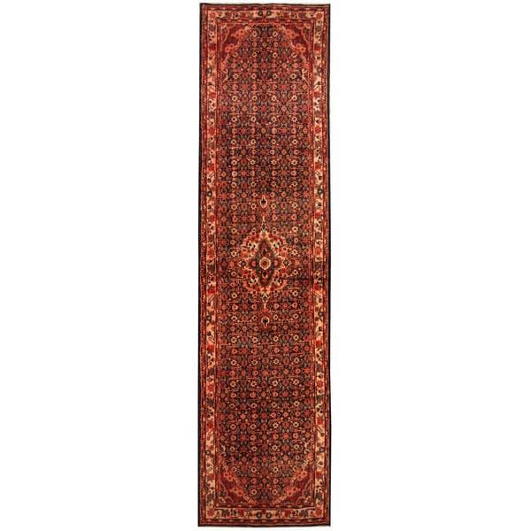 Herat Oriental Persian Hand-knotted Tribal Hamadan Wool Runner - 3'5 x 13'4