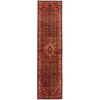 Handmade Herat Oriental Persian Tribal Hamadan Wool Runner (Iran) - 3'5 x 13'4
