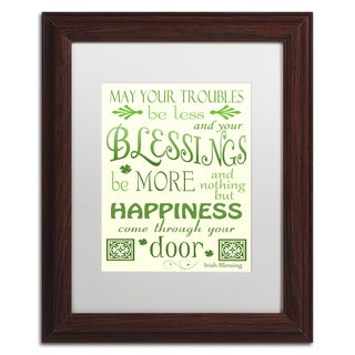 Jennifer Nilsson 'Irish Blessing' Matted Framed Art