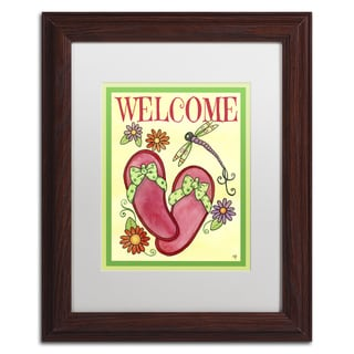 Jennifer Nilsson 'Flip Flop Welcome' Matted Framed Art