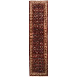 Herat Oriental Persian Hand-knotted Tribal Hamadan Wool Runner (3'5 x 13'11)
