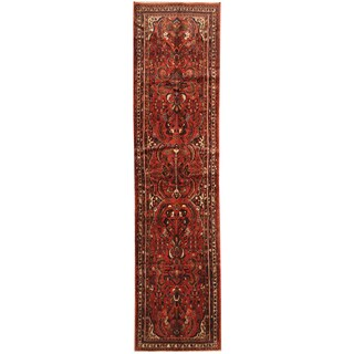 Herat Oriental Persian Hand-knotted Tribal Hamadan Wool Runner (3'2 x 13'3)