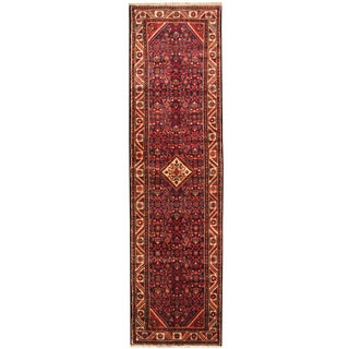 Herat Oriental Persian Hand-knotted Tribal Hamadan Wool Runner (3'6 x 12'7)