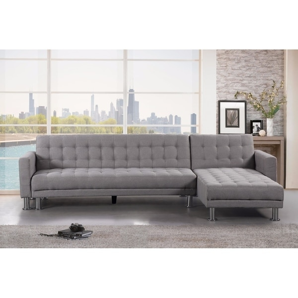 Convertible Fabric Sectional Sleeper Sofa Attalens