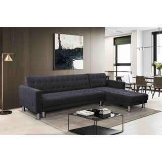 Convertible Fabric Sectional Sleeper Sofa - ATTALENS