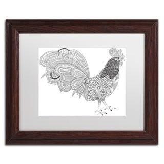 Hello Angel 'Cock-a-Doodle' Matted Framed Art