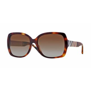 Burberry Women BE4160 3316T5 Havana Plastic Square Sunglasses