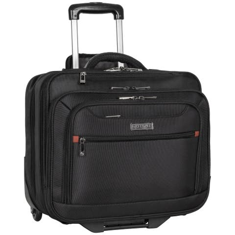 Heritage Travelware Rolling 17-inch Laptop & Tablet 2-Wheeled Business Case Carry-On