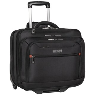 Heritage 1680D Polyester Triple Compartment 2-Wheel Rolling 17-inch Laptop Business Case