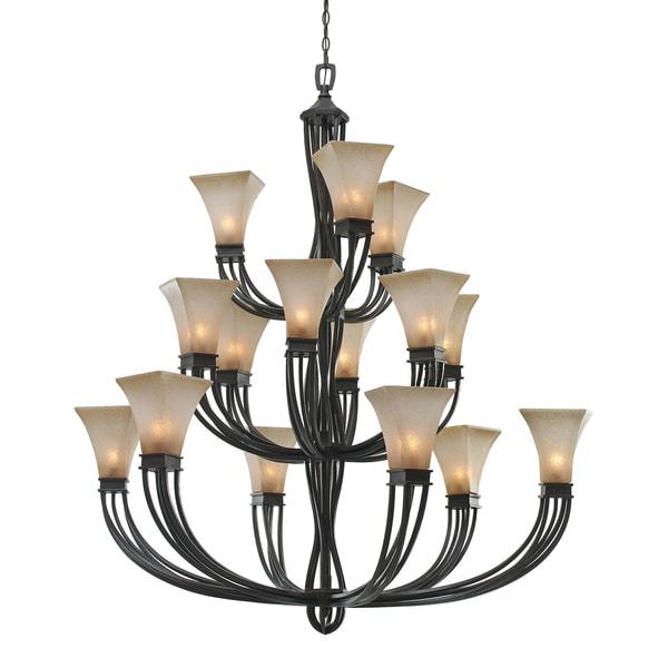 golden lighting chandelier. Golden Lighting Genesis Roan Timber Evolution Glass 3-tier 15-light Chandelier O