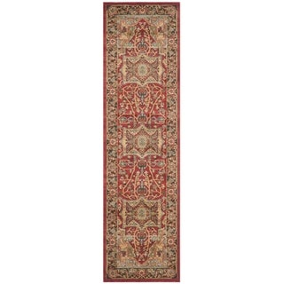 Safavieh Mahal Traditional Grandeur Natural/ Navy Runner (2' 2 x 18')