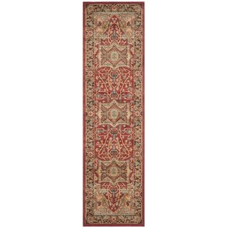 Safavieh Mahal Traditional Grandeur Natural/ Navy Runner (2' 2 x 20')