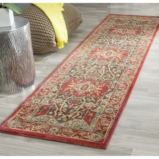 Safavieh Mahal Traditional Grandeur Red/ Red Runner (2' 2 x 16')