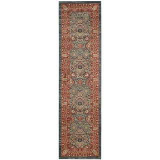 Safavieh Mahal Traditional Grandeur Navy/ Red Runner (2' 2 x 10')