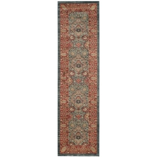 Safavieh Mahal Traditional Grandeur Navy/ Red Runner (2' 2 x 6')