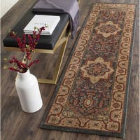 Safavieh Mahal Traditional Grandeur Navy/ Natural Runner Rug