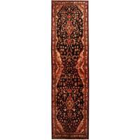 Handmade Herat Oriental Persian Tribal Hamadan Wool Runner (Iran) - 3'9 x 13'6