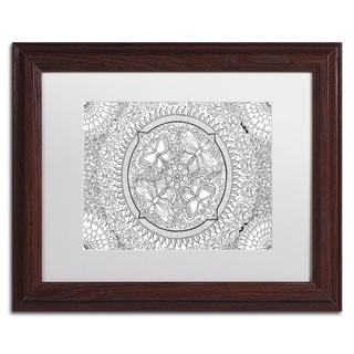 Hello Angel 'Butterfly Party Mandala' Matted Framed Art