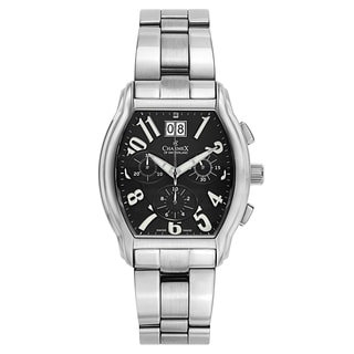 Charmex Men's Silvertone Stainless Steel Swiss Quartz Watch