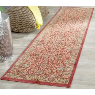 Safavieh Mahal Traditional Grandeur Red/ Natural Runner (2' 2 x 18')
