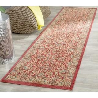 Safavieh Mahal Traditional Grandeur Red/ Natural Runner (2' 2 x 20')