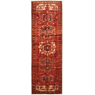 Herat Oriental Persian Hand-knotted Tribal Hamadan Wool Runner (3'8 x 11'4)