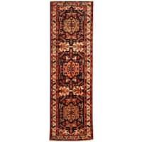 Herat Oriental Persian Hand-knotted Tribal Hamadan Wool Runner (3'4 x 11'1)