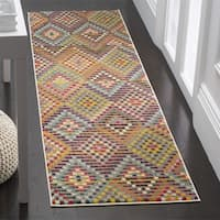 Safavieh Monaco Bohemian Polka Dot Multi/ Beige Distressed Runner (2' 2 x 6')