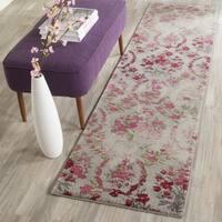 Safavieh Monaco Vintage Floral Bouquet Ivory / Pink Distressed Runner Rug - 2' 2 x 6'