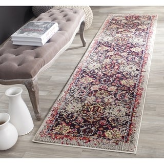 Safavieh Monaco Abstract Oriental Grey/ Multi Runner (2' 2 x 22')
