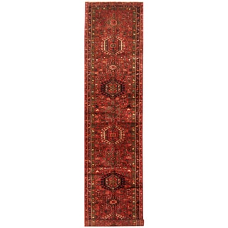 Herat Oriental Persian Hand-knotted Tribal Hamadan Wool Runner (3'4 x 15'1)