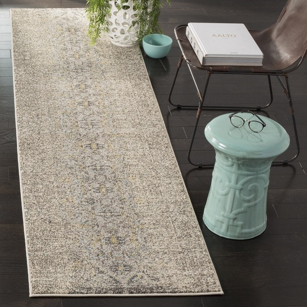 Safavieh Monaco Vintage Distressed Grey / Multi Distressed Runner (2' 2 x 12')