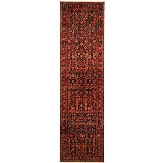 Herat Oriental Persian Hand-knotted Tribal Hamadan Wool Runner (3'7 x 13'5) - 3'7 x 13'5