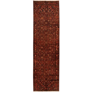 Herat Oriental Persian Hand-knotted Tribal Hamadan Wool Runner (3'10 x 12'10)