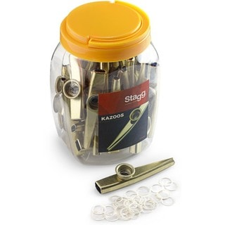Stagg Gold Metal and Plastic Kazoos (Case of 30)