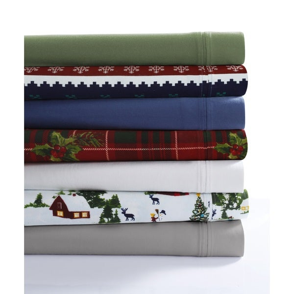 230 GSM Cotton Flannel Extra Deep-pocket Sheet Set with Oversize Flat