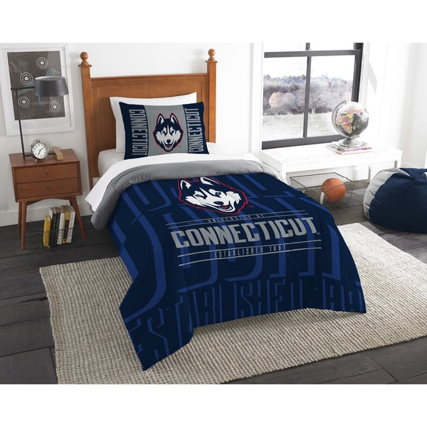 The Northwest Company UConn Blue Polyester Twin 2-piece Comforter Set