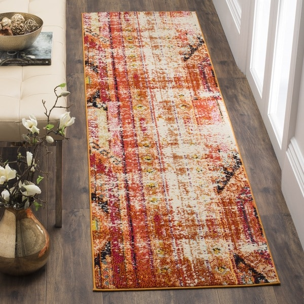 Safavieh Monaco Vintage Bohemian Orange/ Multi Distressed Runner (2' 2 X 6') by Safavieh