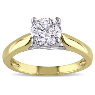 Miadora 14k Two-tone Gold 1ct TDW Diamond Solitaire Ring (GIA)