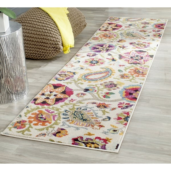 Safavieh Monaco Floral Ivory / Multicolored Runner - 2' 2 x 10'