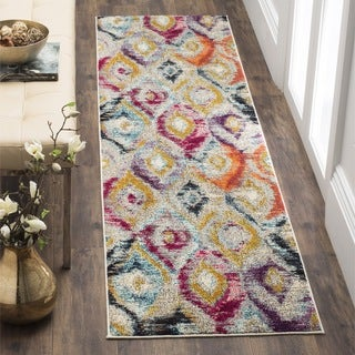 Safavieh Monaco Bohemian Vibrant Watercolor Rainbow Distressed Runner (2' 2 x 10')