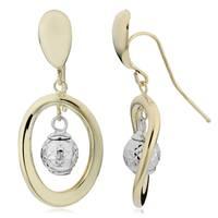 Fremada 14k Two-tone Gold Heart Earrings