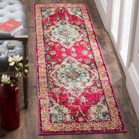 Safavieh Monaco Bohemian Medallion Pink/ Multicolored Distressed Runner Rug