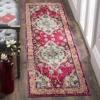 Safavieh Monaco Bohemian Medallion Pink/ Multicolored Distressed Runner - 2' 2 x 6'